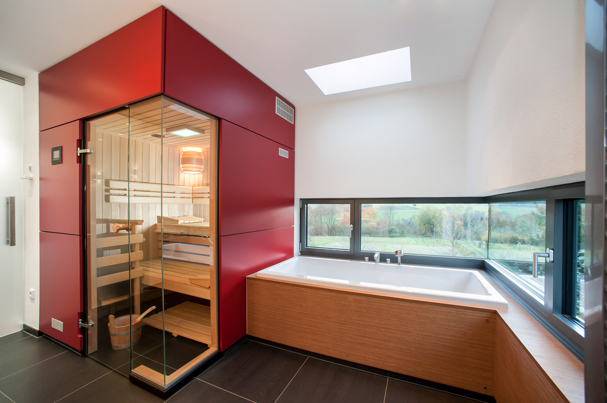 Neubau Bad mit Sauna