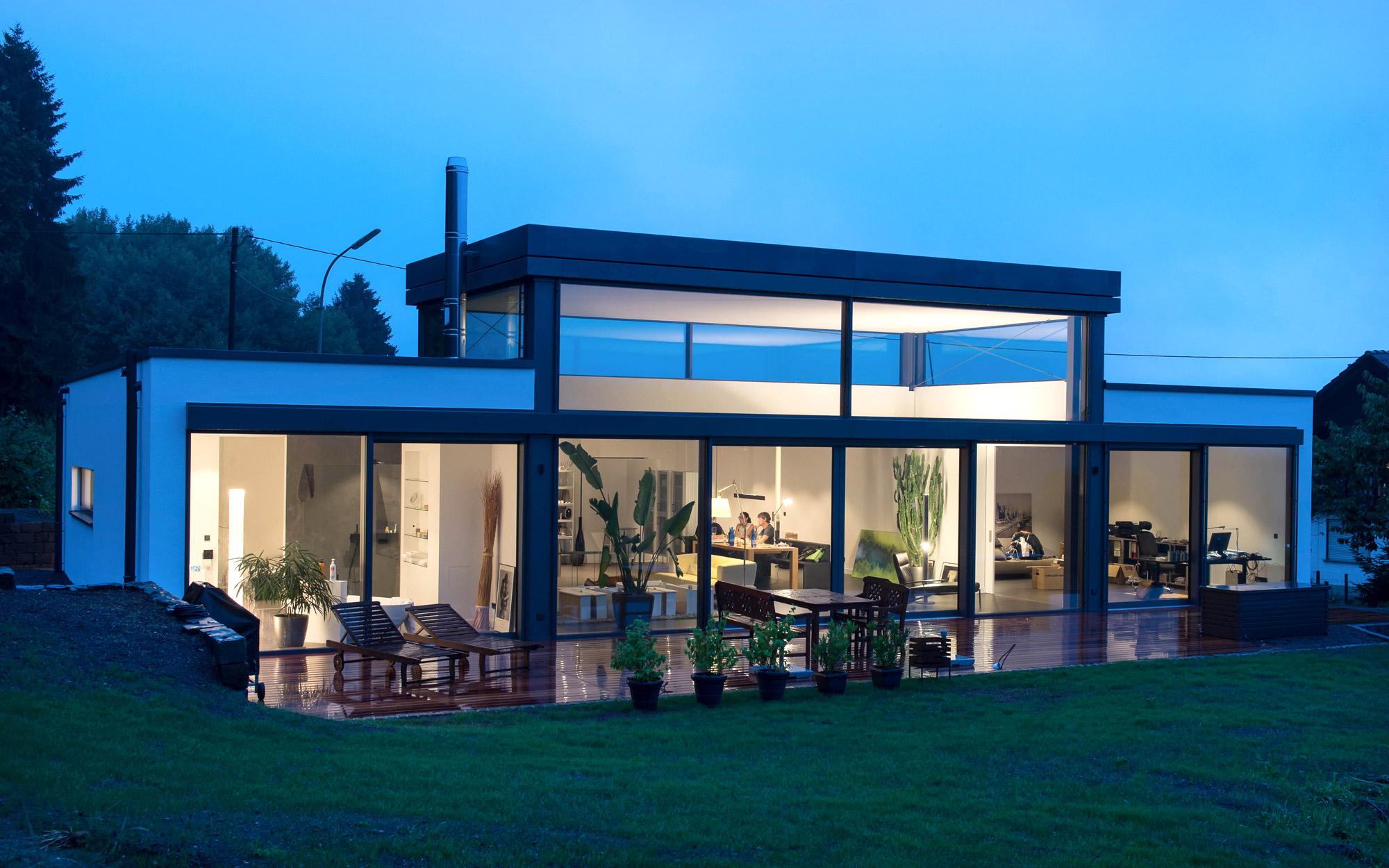 Barrierefreies Wohnen mit Glasfassade