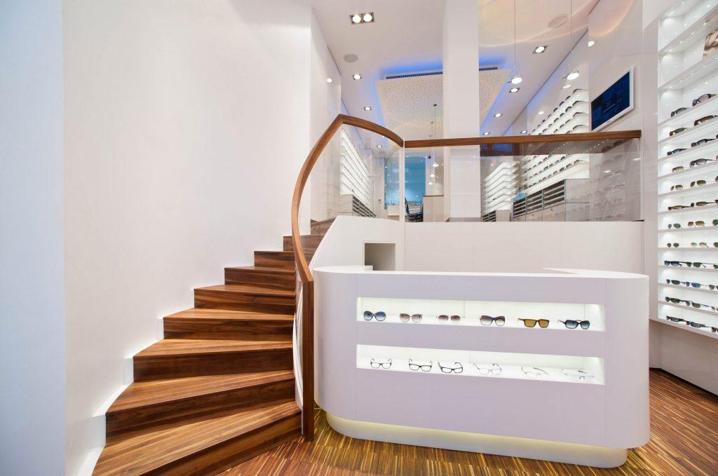 optiker eingangsbereich architekturb ro heinz. Black Bedroom Furniture Sets. Home Design Ideas