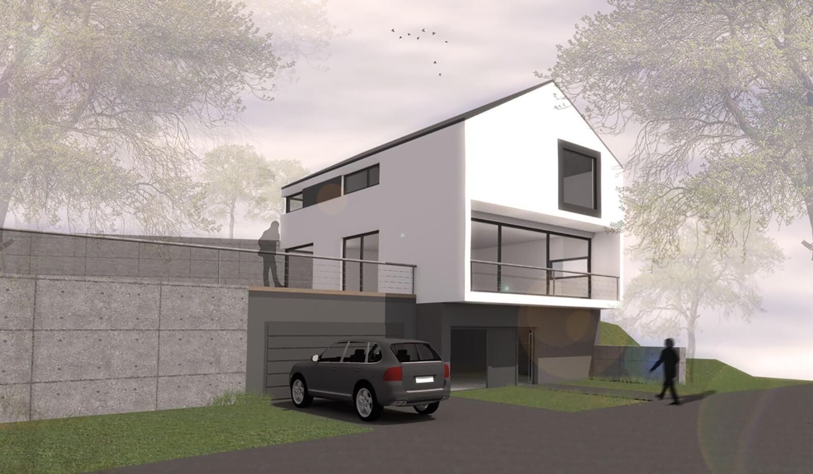 Visualisierung Haus am Hang Lorelei am Rhein