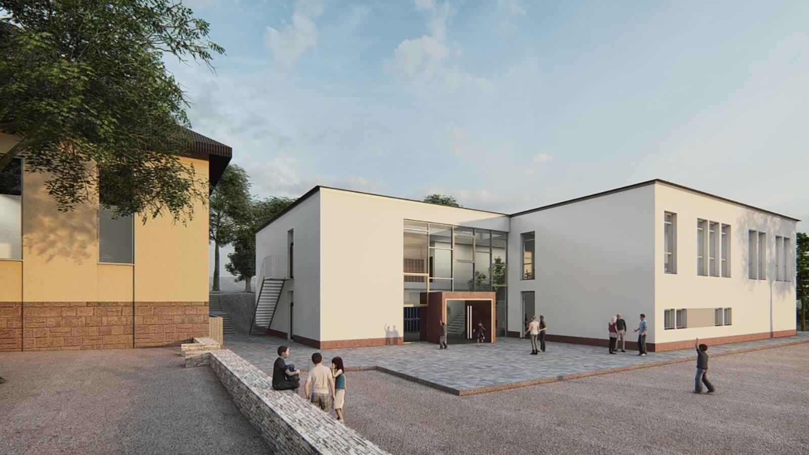 Visualisierung Schulgebäude
